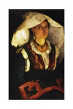 Woman in Sardinian Costume, Ca 1875 Giclee Print by Michele Cammarano
