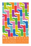 Austin Texas Giclee Print by  J Hill Design