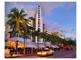 Breakwater Hotel on Ocean Drive in the Art Deco District of South Miami Beach in Miami Art
