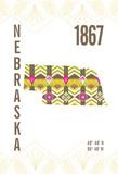 Nebraska Giclée-Druck von  J Hill Design