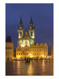 Stone Bell House and Church of Our Lady before Tyn, Old Town Square, Prague Print