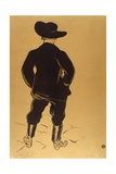 Aristide Bruant in Mirliton, 1893 Giclee Print by Henri de Toulouse-Lautrec