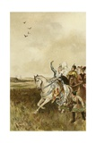Jacqueline, Countess of Hainaut Hunting with Falcons Giclee Print by Willem II Steelink