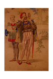 Sketch to Illustrate the Passions - Self Conceit or Vanity, 1854 Giclee Print by Richard Dadd
