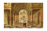 A Capriccio View in the Courtyard of a Classical Mansion, 1628 Giclee Print by Bartolomeus Van Bassen