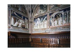 Frescoes Depicting Stories of Saint Benedict Giclee Print by Spinello Aretino