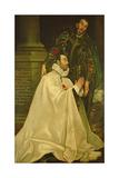 Julian Romero De Las Azanas with St. Julian, 1587-97 Giclee Print by  El Greco