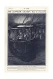 German Pilot in the Forward Gondola of a Zeppelin, World War I Giclee Print by Philip Dadd