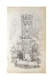 Stela P at Copan, Honduras Giclee Print by Frederick Catherwood