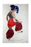 Costume Design for the Blue Sultan in 'Scheherazade', C.1910 Giclee Print by Leon Bakst