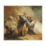 Minerva Dictating Laws Giclee Print by Giovanni Battista Tiepolo