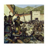 Genghis Khan Marched an Army of 200,000 into China Giclee Print by Alberto Salinas