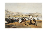 Umpanda Inspecting Troops at Nonduengi, 1849 Giclee Print by George French Angas