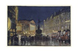 The Heart of the Empire, an Impression of Piccadilly Circus at Dusk Giclee Print by Donald Maxwell