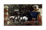 Pair of Horses in Front of Gate, 1881 Lámina giclée por Henri de Toulouse-Lautrec
