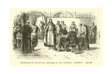 Charlemagne Receiving Reports in the General Assembly Giclee Print