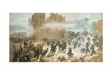 The Breach of Porta Pia in Rome, September 20, 1870 Giclee Print by Carlo Ademollo