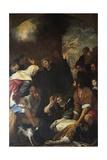 St Ignatius Resurrecting Mason Giclee Print by Giovanni Andrea De Ferrari