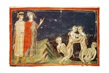Inferno, Canto XXIX, Miniature from Divine Comedy Giclee Print by Dante Alighieri