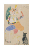 Clown in a Bicorne with a Cat, Drawing Dedicated to Andre Rouveyre, 1916 Giclee Print by Guillaume Apollinaire