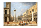 The Piazzetta, Venice, Looking Towards the Piazza San Marco Giclee Print by Luca Carlevaris