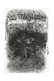 Illustration for the Novel Les Travailleurs De La Mer, 19th Century Giclee Print by Daniel Urrabieta Vierge