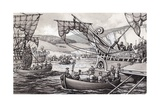 The Romans Invading England in 55BC under Julius Caesar Giclee Print by Pat Nicolle