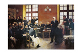 A Clinical Lesson with Doctor Charcot at the Salpetriere, 1887 Giclée-tryk af Pierre Andre Brouillet