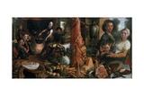 Kitchen Scene, Allegory Voluptas Carnis Giclee Print by Pieter Aertsen