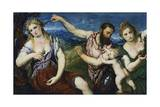 Allegory with Mars, Venus, Flora and Cupid, Ca 1560 Giclee Print by Paris Bordone