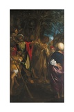 The Preaching of John Baptist Giclee Print by Lodovico Carracci