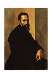 Portrait of Michelangelo, Ca 1535 Giclee Print by Jacopino Del Conte