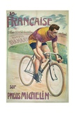 Poster Advertising Cycles 'La Francaise' on 'Michelin' Tyres Giclee Print by Privat Livemont