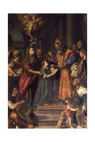 Presentation of Mary at Temple Giclee Print by Alessandro Allori