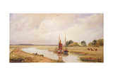 Langrick Ferry on the River Witham Near Boston, Lincolnshire Giclee Print by Peter De Wint