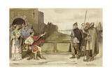 Meeting of Charles the Bald and Roruk the Norseman, Nijmegen, 870 Giclee Print by Willem II Steelink