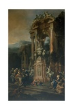 Allegorical Tomb for Chancellor Cowper Giclee Print by Francesco Monti