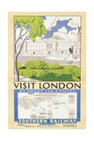 'Visit London', Poster Advertising Southern Railway, 1929 Giclee Print