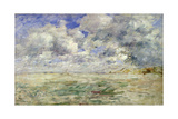 Stormy Sky Above the Beach at Trouville, C.1894-97 Giclee Print by Eugène Boudin