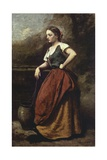 Young Woman at the Well Giclee Print by Jean-Baptiste-Camille Corot