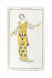 Parisian Clothing: Dione-Drawing by Bakst Executed by Paquin, 1913 Giclee Print by Leon Bakst