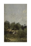 A Rider in the Country Giclee Print by Jean-Baptiste-Camille Corot