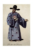 Costume Sketch for Doctor of Divan in Opera Turandot Giclee Print by Giacomo Puccini
