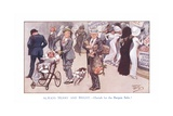 Always Merry and Bright - Hurrah for the Bargain Sales! Giclee Print by Ernest Ibbetson