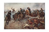 British Artillery Entering Enemy Lines at Tel El-Kebir, 1882 Giclee Print by John Charlton