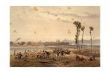 The French Passing the Sesia at Vercelli in 1859 Giclee Print by Carlo Bossoli