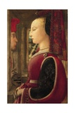 Portrait of Lady with Man at Window Sill, 1435-1445 Giclee Print by Filippo Lippi