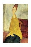 Jeanne Hebuterne in Yellow Sweater, 1918-1919 Giclee Print by Amedeo Modigliani