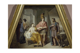Alexander Ceding His Mistress Campaspe to Apelles Giclee Print by Francesco Coghetti