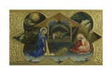Nativity, Scene from Predella of Coronation of Virgin Giclée-tryk af Lorenzo Monaco